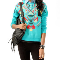 Intarsia Geo Sweater