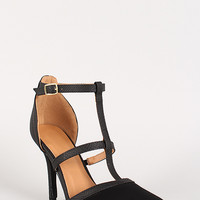 Strappy Buckle Snake Pointy Toe Pump