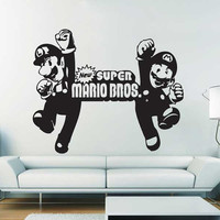 New Super Mario Bros Vinyl Wall Art Decal  WD-0357