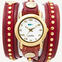 Bordeaux Gold Bali Stud Wrap Watch