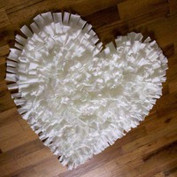 NEW Feel Love Collection Heart Shaped Rug in White by talkingsquid
