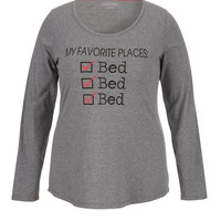 My favorite places plus size tee
