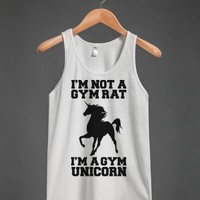 I'm Not A Gym Rat I'm A Gym Unicorn-Unisex Athletic Grey Tank