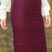 Oh So Chic Skirt-Merlot