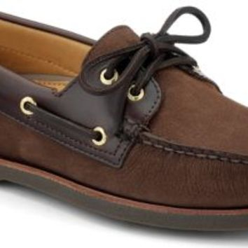 Sperry Top-Sider Gold Cup Authentic Original 2-Eye Boat Shoe Brown/BucBrown, Size 15M  Men's Shoes