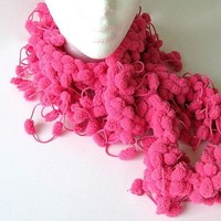 Heavenly Pink Puff Boa Scarf