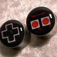"Nintendo Controller Plugs - One PAIR - Sizes 2g, 0g, 00g, 7/16"", 1/2"", 9/16"", 5/8"", 3/4"", 7/8"", 1"" - Made To Order"