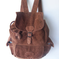 Vintage Chocolate Leather Backpack