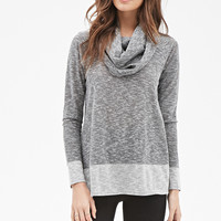 Marled Cowl Neck Top