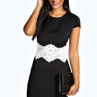 Amelie Lace Waist Formal Bodycon Dress