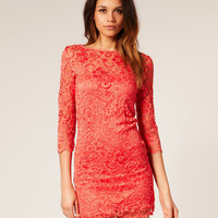 ASOS Lace Bodycon Dress at asos.com