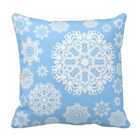 Winterland Blue Pillow