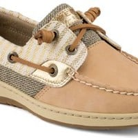 Sperry Top-Sider Bluefish Mariner Stripe 2-Eye Boat Shoe Cognac, Size 8.5M  Women's Shoes