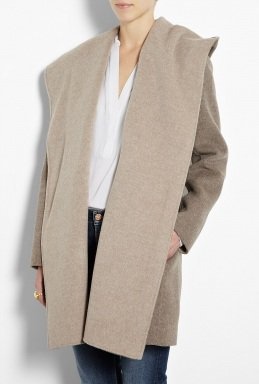 Wool Drape Hooded Coat by Vince