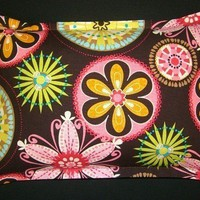 Corn Bag Microwave Heating Pad  - Carnival Bloom Brown by Michael Miller