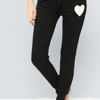 HEART PRINT DRAWSTRING Jogger Pants
