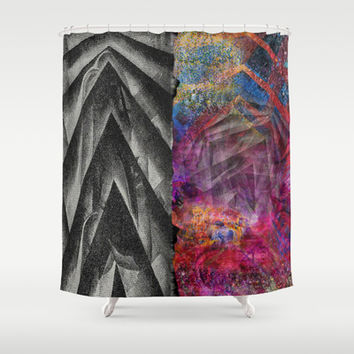Two Faced Shower Curtain by Nikki Neri | Society6