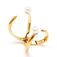 BIJULES | Future Knuckle Ring with Pearls | Browns fashion & designer clothes & clothing