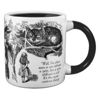 'Well, I've often seen a cat without a grin,' thought Alice, 'but a grin without a cat is the most curious thing!'