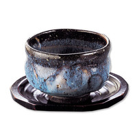 Indigo Flow Cup w/Large Saucer