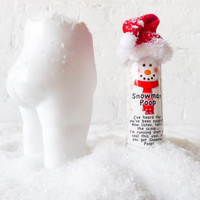 Snowman Poop Tushiez - 5 Inch Size - Stocking Stuffer! Hot Chocolate Candy Container Gift - Winter Holiday Gifts - Marshmallows Candies