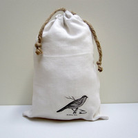 drawstring bird bag