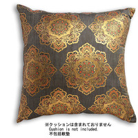 NISHIJIN KINRAN Cushion Cover, Black
