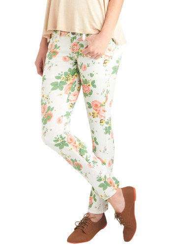 Flower You Doing Pants | Mod Retro Vintage Pants | ModCloth.com