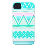 Bright Turquoise Tribal Iphone 4 Cases from Zazzle.com