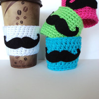 Mustache Coffee Cozy