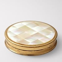 FOSSIL?- Fossil Finds By The Bay:Womens Mother of Pearl Compact SDI4649