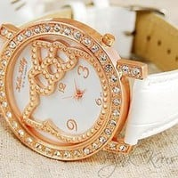 Pynk Krush — Hello Kitty Leather Watch