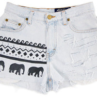 Custom High Waisted Shorts Elephante