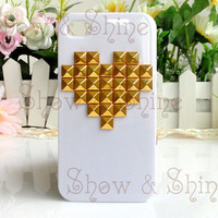 Heart iPhone Case (STUDDED)