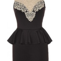 Lace Neck Dress
