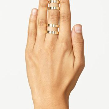 Stacked Cutout Rings - Gold