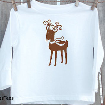 Christmas Reindeer Shirt, Kids Christmas Shirt, Toddler, Youth