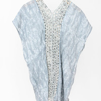 Osei Duro Crochet Panel Dress - Barnacle/Ocean « Pour Porter