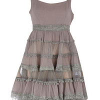 Grey chiffon lace dress - Party Dresses - Dresses - Dorothy Perkins