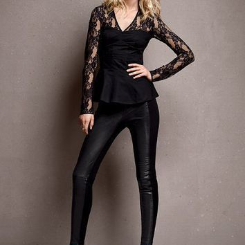 Ponte and Leather Legging - Victoria's Secret