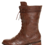 Break 3 Brown Brogue Lace-Up Oxford Boots - $38.00