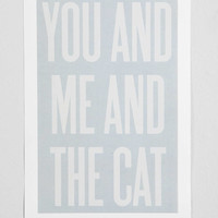 Ashley G You And Me And The Cat Art Print- Grey One