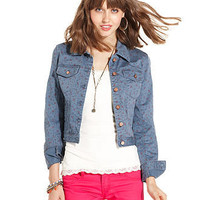 American Rag Juniors Jacket, Floral-Print Denim - Juniors Jackets & Blazers - Macy's