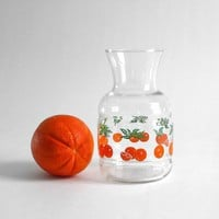 Vintage Orange Glass Carafe by Hindsvik on Etsy