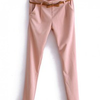Candy Colors Slim Harlan Pencil Pants Pink$38.00