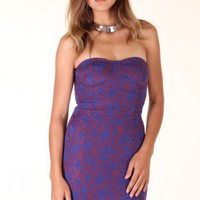 PURPLE OVERLAY LACE SWEETHEART DRESS @ KiwiLook fashion