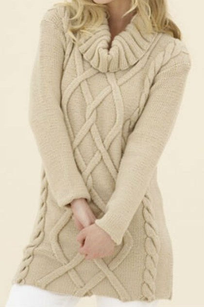 Leaf Blanket Knitting Pattern : Hand Knit Long Sweater Tunic Cable from tvkstyle on Etsy Epic