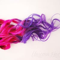 Pink and Purple // OMBRE HAIR // clip in extensions // AAA grade