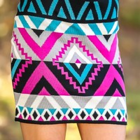 Changing Things Up Skirt-Fuchsia