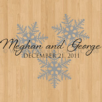 Wedding Dance Floor Decals Winter Romance